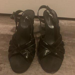 Women's size 9 A2 by Aerosols black sandals.